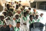 Nigeria's 'Super Eagles' decked out in traditional wear.