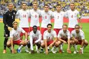 Denmark's team, including the Ugandan-born Pione Sisto, poses before a friendly match with Sweden. Stockholm, Sweden. June 2, 2018.