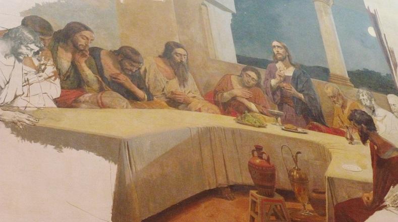 """Este artista enfermó de tuberculosis y dejó algunas de sus obras inconclusas, entre ellas la denominada """"La última cena"""". Falleció el 29 de junio de 1898. Sus restos reposan en el Panteón Nacional desde el 29 de julio de 1948."""