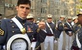 Spenser Rapone poses in a photo after graduating from the United States Military Academy at West Point, New York.