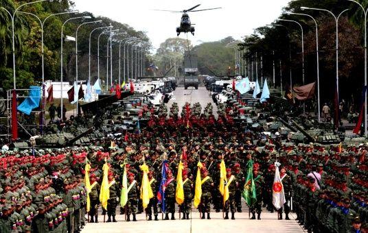 Venezuela Celebra El Día Del Ejército Nacional Bolivariano