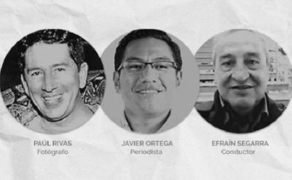 Journalist Javier Ortega, photographer Paul Rivas and driver Efrain Segarra were kidnapped in March on Ecuador