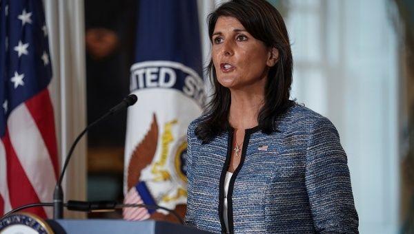 U.S. ambassador to the United Nations, Nikki Haley.