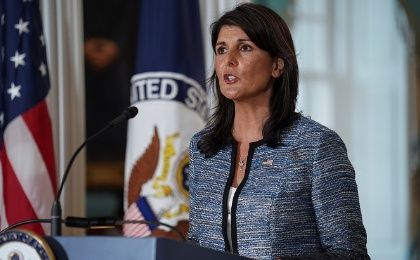 U.S. ambassador to the United Nations, Nikki Haley.