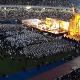 Miles de personas se congregaron en el estadio general Pablo Rojas en una emotiva ceremonia.
