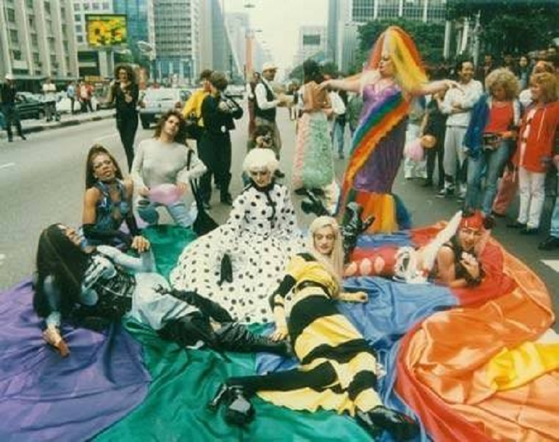 In 1997, the city of Sao Paulo, Brazil joined the rainbow parade as nearly 2,000 supporters walked the nation's first gay parade. The city has become the world's largest venue for LGBT parades with 3.2 million registered participants in 2009.
