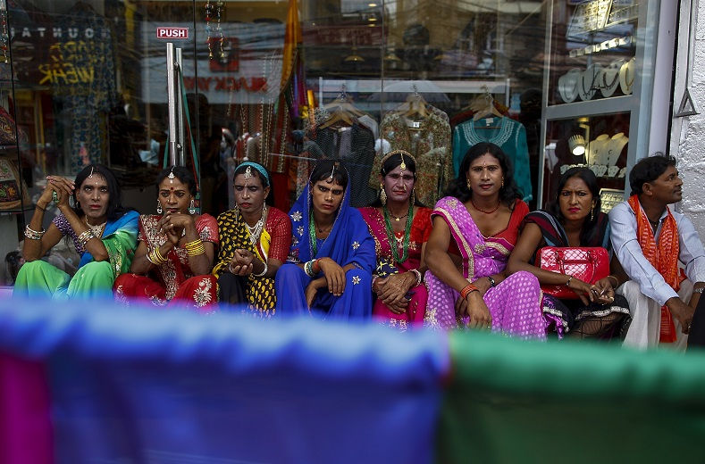 Nepal's Blue Diamond Society were behind the nation's first pride parade in 2001. Masks are worn to prevent any residual discrimination from homophobic communities. The parades usually coincides with the Gaijatra festival which commemorates the passing of friends of that year.