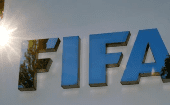 The logo of FIFA is seen in front of its headquarters in Zurich, Switzerland September 26, 2017.