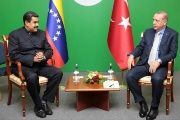 Maduro (L) said the Turkish people have democratically expressed majority support for Recep Tayyip Erdogan.