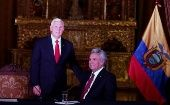 Mike Pence and Lenin Moreno met Thursday at Carondelet, Ecuador