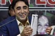 Bilawal Bhutto Zardari, president of the Pakistan People's Party, speaks during a press conference in which he reveals the party's manifesto for the general elections, in Islamabad (Pakistan) Thursday, June 28, 2018.