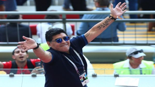 El exfutbolista argentino ha asistido a todos los encuentros de la albiceleste durante el Mundial Rusia 2018.