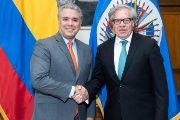 Ivan Duque met with Luis Almagro Friday and vowed to strengthen the OAS by aiding in the dismantling of Unasur.