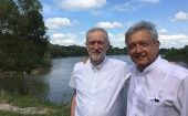 Jeremy Corbyn took a Christmas holiday trip to Mexico and visited AMLO in his home state, Tabasco, in 2016.