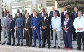 CARICOM Heads share a joint photo ahead of Thursday