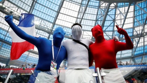 France fans inside the stadium during the match.