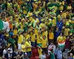 Brazil fans inside the stadium before the match.