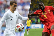 The first 2018 World Cup semifinal match is between France and Belgium.