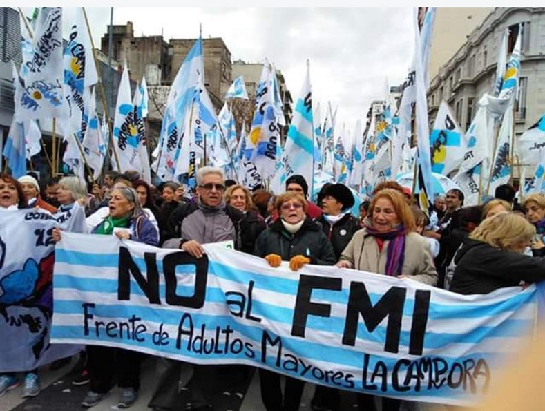 The Front for the Elderly of the Campora rejects the deal with the IMF.