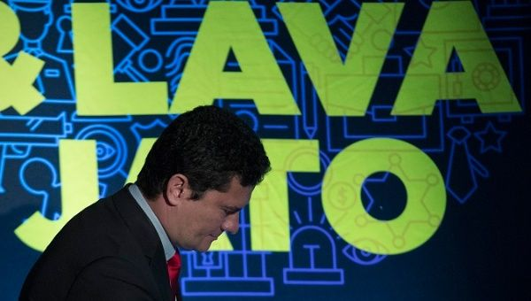 Judge Sergio Moro takes part in corruption forum in Sao Paolo, October 24, 2017.