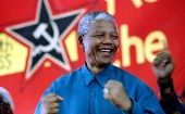 Nelson Mandela attends the congress of the South African Communist Party, which he said was a unique ally to the African National Congress, in 1995.