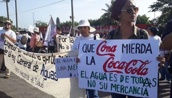"""Let Coca Cola eat shit. Water is for everyone, not your commodity."""