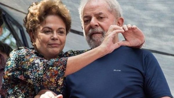"""The coup is a process that begins with impeachment... and continues now with the imprisonment of Lula,"" Rousseff said."