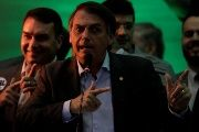 Federal deputy Jair Bolsonaro at the national convention of the Party for Socialism and Liberation (PSL) where he is to be formalised as a candidate for the Presidency of the Republic, in Rio de Janeiro
