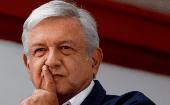 Mexico's president-elect Andres Manuel Lopez Obrador (AMLO) during a news conference in Mexico City, Mexico discussing resetting U.S., Mexico relations and NAFTA July 22, 2018.