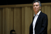Argentina's president Mauricio Macri arrives for a news conference in Buenos Aires, Argentina, November 23, 2015.