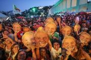 Exhibitions, performances and cultural workshops dominated the day as people joined together to call for Lula's release.
