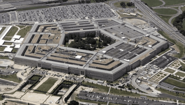 FILE PHOTO: An aerial view of the Pentagon building in Washington, June 15, 2005.