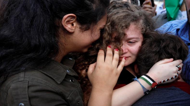 Tamimi pudo reencontrarse con sus familiares y amigos. Su madre, quien había sido detenida días después que su hija, también quedó libre.