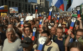 Protests in Moscow against increasing the retirement age for both men and women. Saturday, July 28, 2018