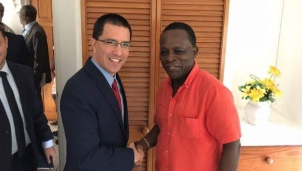 Venezuelan Foreign Minister Jorge Arreaza held a meeting with President Keith Mitchell.