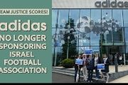 BDS supporters celebrate Adidas decision to no longer sponsor IFA.
