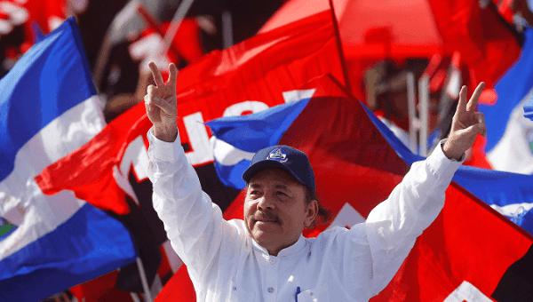 Nicaraguan President Daniel Ortega during a political rally.