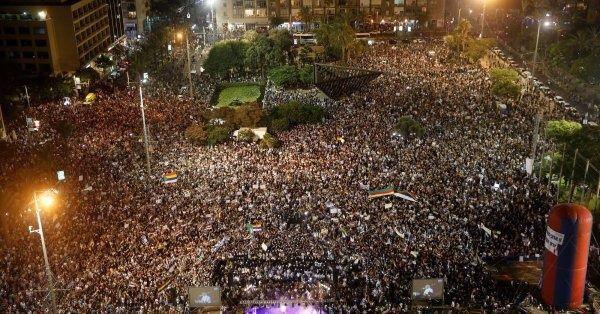 50 mil personas participaron en la protesta contra el proyecto sionista