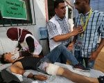 Palestian teen wounded during Great March of Return protest on July 27.