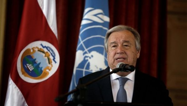 """The secretary-general is concerned about the latest developments in Venezuela,"" his deputy spokesman said."