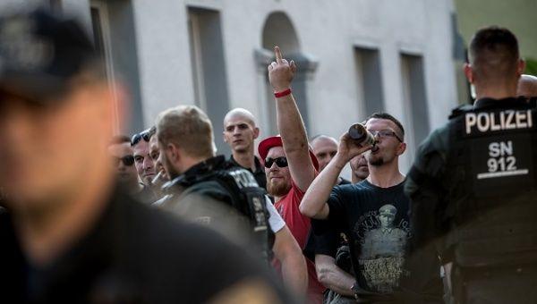 Participantes del festival neonazi