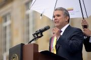 President Ivan Duque during swearing in ceremony.