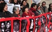 Human rights groups protested outside Chile
