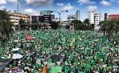 Mass marches against corruption and impunity held on Sunday in Santo Domingo, Dominican Republic under the #marchaverde and ##1DelMillon tags