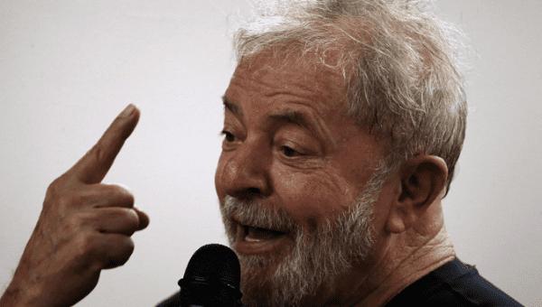 Former Brazilian President Luiz Inacio Lula da Silva speaks at his book launch event in Sao Paulo, Brazil March 16, 2018.