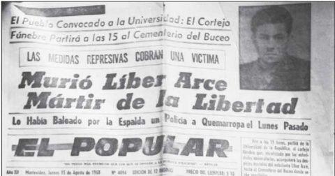 Uruguay no olvida a Liber Arce y a sus mártires estudiantiles ...