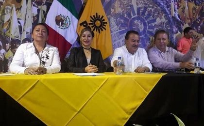 Newly-elected congresswoman Azucena Rodriguez has been kidnapped. Azucena Rodriguez in a PRD meeting in Mexico City, Oct. 21st, 2017.