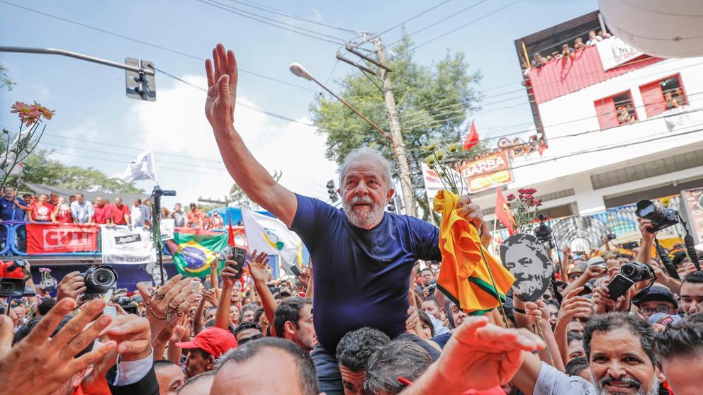 Se espera que 50 mil personas acompa?en la candidatura de Lula este miércoles. (Foto de Archivo)
