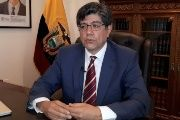 The foreign minister of Ecuador, Jose Valencia, at his office in Quito on July 31, 2018.