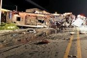 The Colombian bus crashed Tuesday at 2:55 a.m.